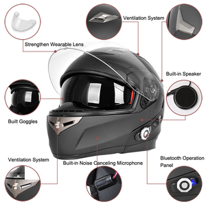 FreedConn Bluetooth Helmet Built in Intercom System Support 2 riders Interphone and FM Motorcycle BT